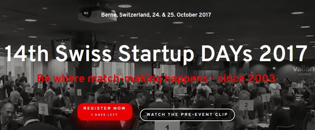 Swiss Startup Days 2017